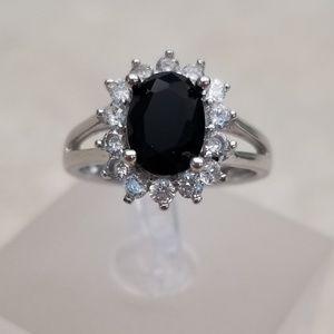 HOST PICK ❤️ 18k White Gold With Black Spinel Ring